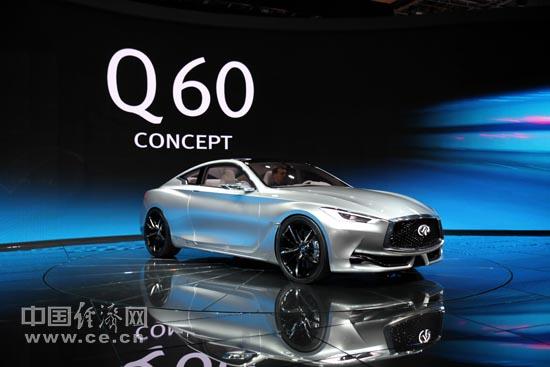 英菲尼迪标志性前脸设计   英菲尼迪q60 概念车深邃的双拱高清图片