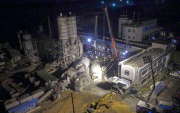 长沙一混凝土公司生产线垮塌4人被埋
