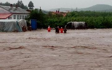 黑龙江局地暴雨 尚志市境内多个林场受灾