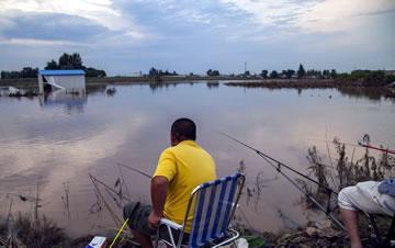 洪水淹没玉米地 农民改钓鱼每天钓上百条