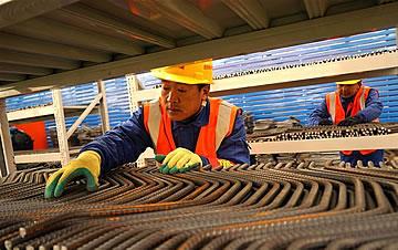 北京地铁在建工程配套大型钢筋加工厂正式投产