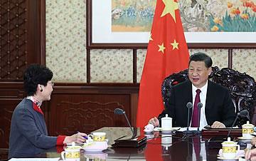 习近平会见来京述职的林郑月娥和崔世安