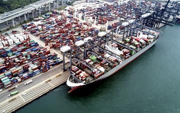 香港2017年商品进出口货量同比上升