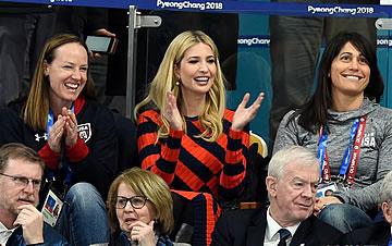 特朗普女儿伊万卡观看平昌冬奥会男子冰壶决赛