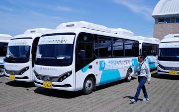 20辆国产纯电动巴士在韩国济州岛交付使用