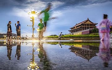 暴雨过后 北京天安门广场景色如画