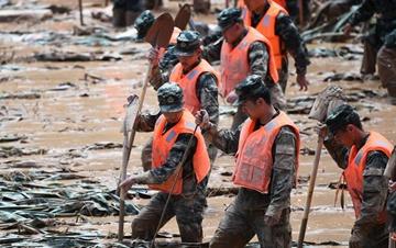 甘肃省东乡族自治县遭受暴雨灾害