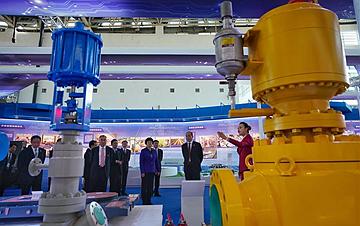 宁夏回族自治区成立60周年大型成就展开幕
