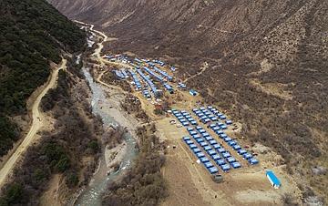 西藏金沙江堰塞湖安置点见闻