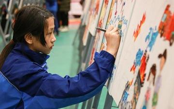 浙江:儿童绘画 关注消防