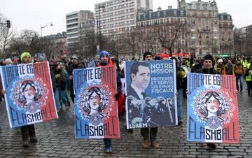 示威者不满 巴黎7000人继续抗议