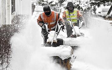 吉林长春:积极应对风雪考验