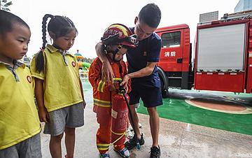 浙江长兴:消防安全课迎开学
