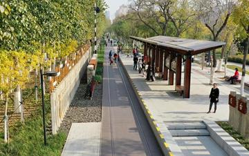 天津市区:废旧清代铁路变身现代绿道公园