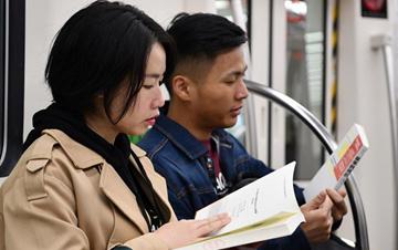 """400本图书杂志在天津地铁""""漂流"""""""