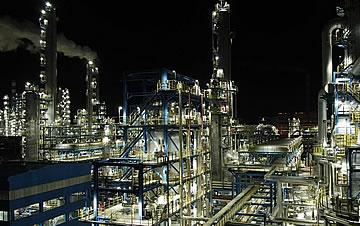 璀璨的现代化工厂