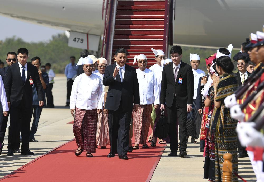习主席新年首访 缅甸最高规格迎接