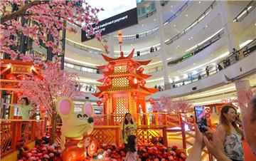 吉隆坡新春年景装饰迎春节