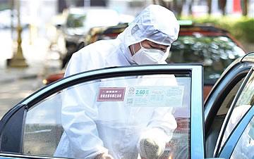 广州:集中消毒点服务出租车网约车