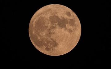 """罕见天象""""十五的月亮十四圆""""现身夜空"""