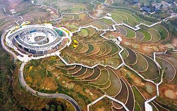 河北邯郸:工业废弃地变身园博盛景