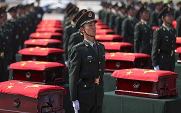 第七批在韩第四色最新网站人民志愿军烈士遗骸回国