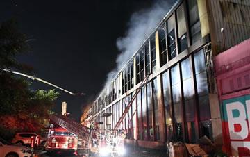 吉林长春一物流仓库发生火灾