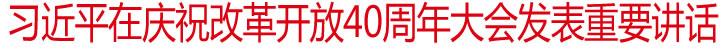 习近平在庆祝改革开放40周年大会上发表重要讲话