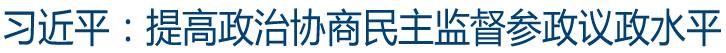 习近平:提高政治协商民主监督参政议政水平