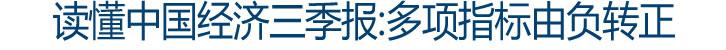 读懂中国经济三季报:多项指标由负转正