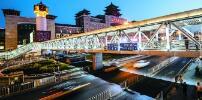 北京站北京西站老天桥换新装