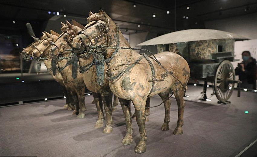 西安:秦始皇陵铜车马博物馆正式开放