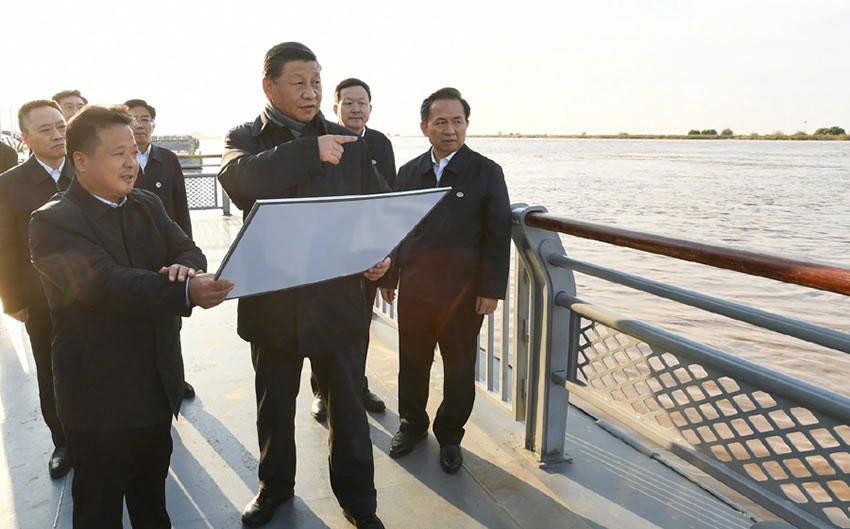 澳门小赌攻略:在山东东营考察黄河入海口