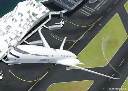 理念3 低噪音自由滑翔着陆   未来飞机在飞抵机场时,可以采用自由