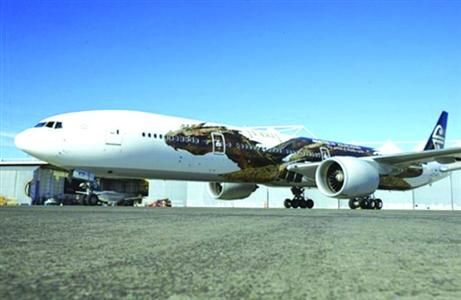 新西兰航空再推霍比特人主题彩绘飞机(图)