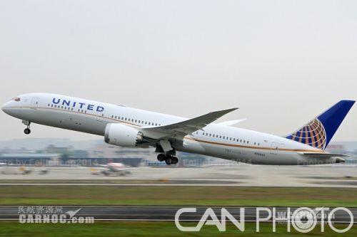 """787-9飞机中国""""首秀"""" 执飞成都旧金山航班"""