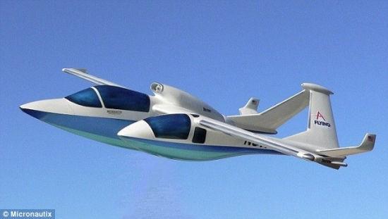概念飞机设乘客吊舱 可体验飞行员视角