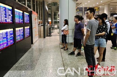 广州白云机场飞机延误