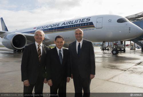空客交付新加坡航空首架a350xwb宽体飞机