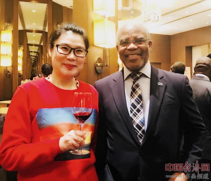 何�F熹Anika He和博茨瓦纳共和国驻华大使莫图西.帕拉伊H.E.Mr Mothusi Bruce