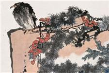 潘天寿《鹰石山花图》拍卖过亿 创个人作品拍卖纪录