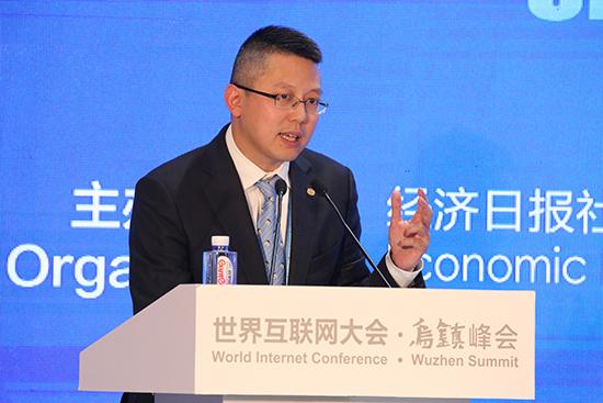 旺旺中时媒体集团总裁蔡绍中发表主旨演讲。.jpg