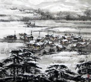 心灵的鸣唱――军旅画家高维洲水墨艺术
