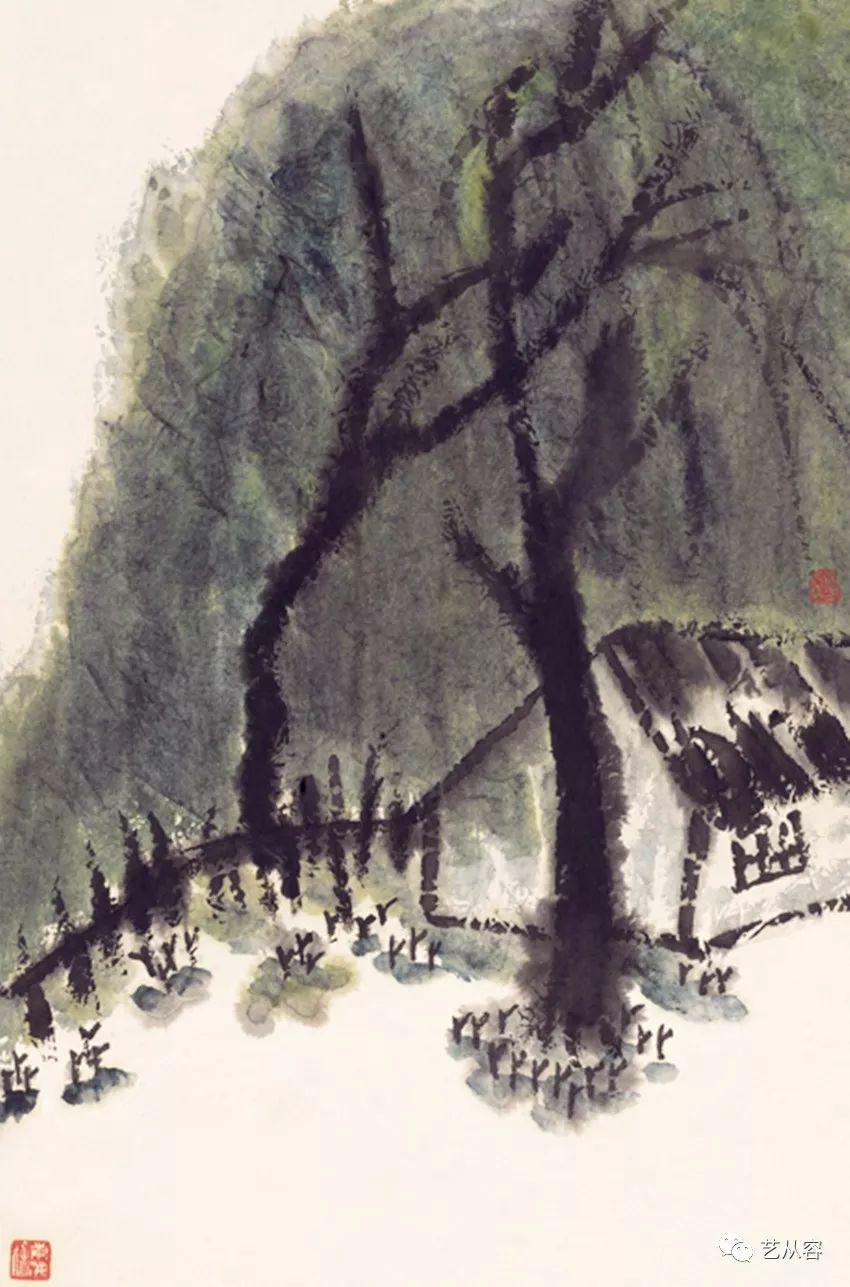 中国意象画_又亲得吴作人,刘开渠等大家的指点,年纪轻轻时在中国传统意象绘画上就