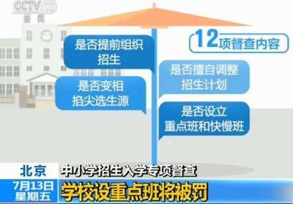 北京开展中小学v专项入学专项督查设重点班将年级小学阅读三课件图片