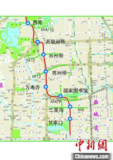 北京地铁16号线中段、房山线北延9月20日试运行