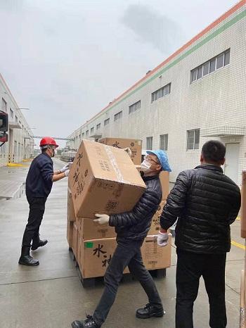 旺旺集团捐助武汉红十字会水神消毒产品用于疫区防控