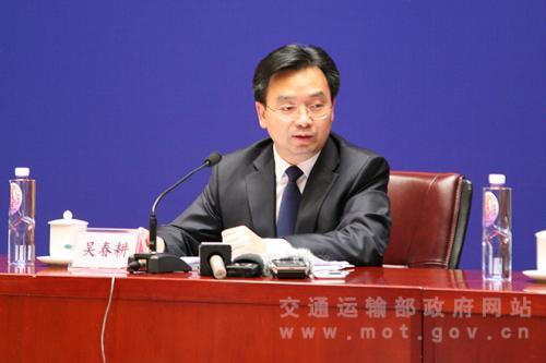 交通部新闻发言人吴春耕。 图片来源:交通部网站