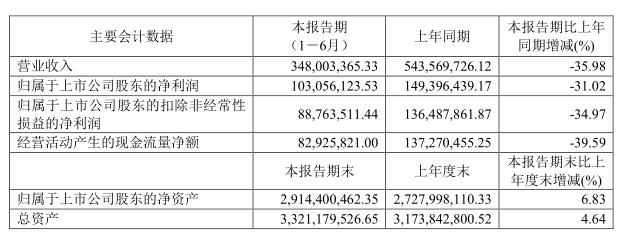 康辰药业:主营产品苏灵销量下降 上半年营收同比下降35.98%