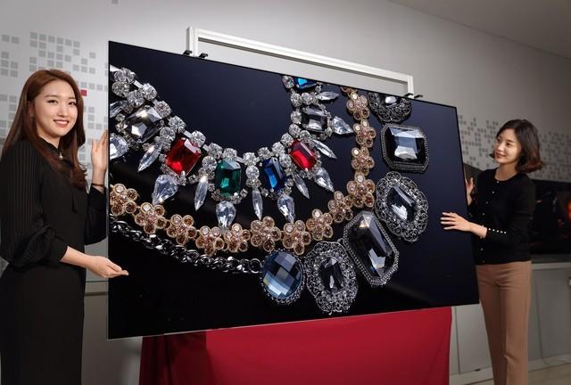 目前LG Display所采用的是蒸镀工艺来量产大尺寸OLED面板